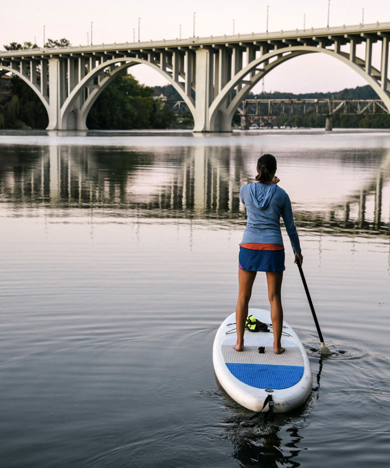 Paddling on the Tennessee River in Knoxville