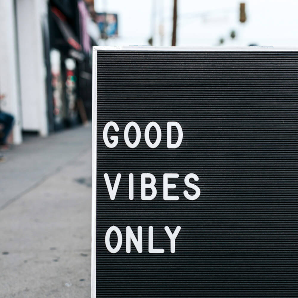 good vibes only letterboard
